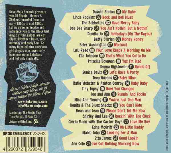 Various Artists - Rock & Roll Vixens 4 – 25 Black Woman Singer, Movers & Shakers-back