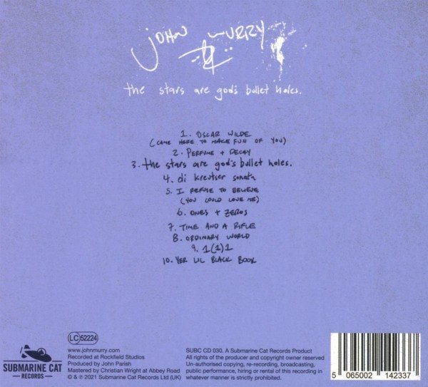 John Murry - The Stars Are God's Bullet Holes-back