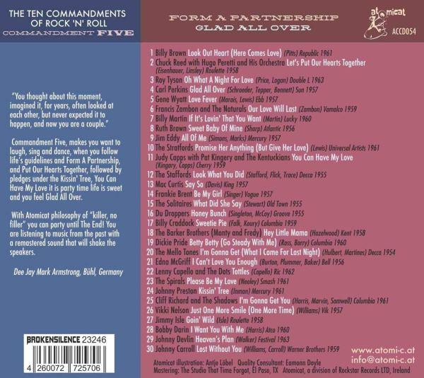 Various Artists - The Ten Commandments Of Rock 'n' Roll - Commandment Five – Form A Partnership Glad All Over- back