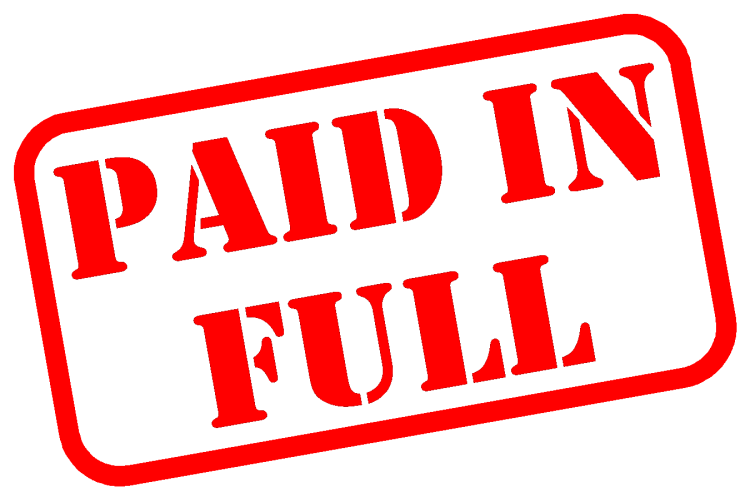 Image result for pay off balances in full
