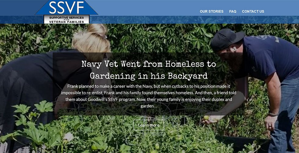Homes for Veterans Micro-site