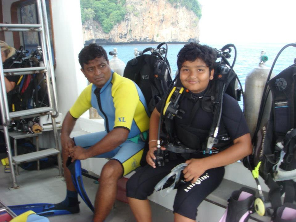 Indian Master SCUBA Diver PADI and Father