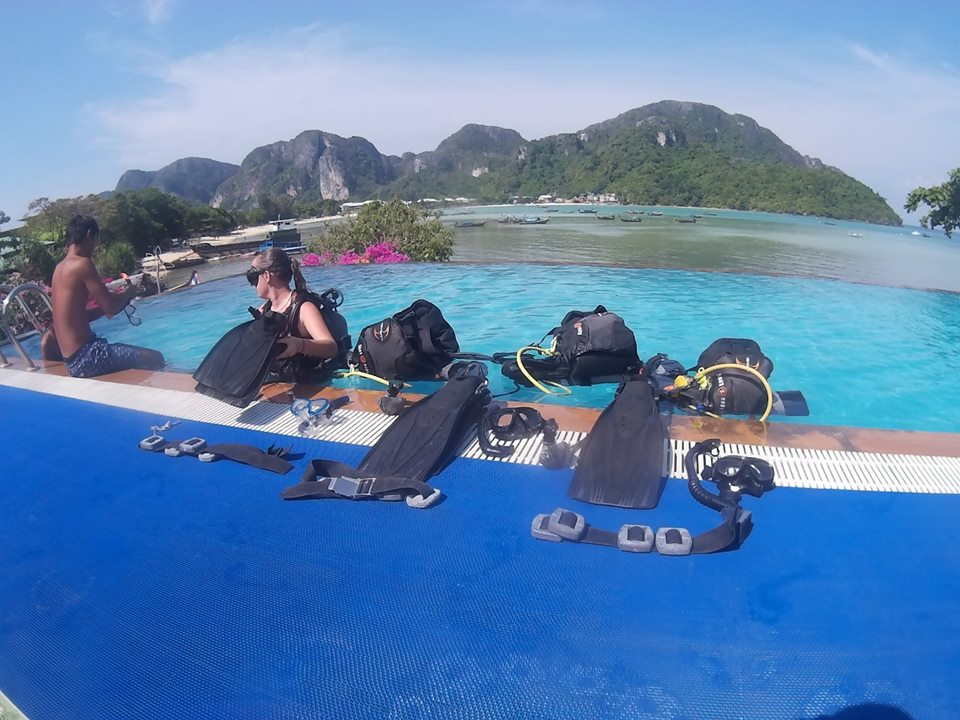 open water course, kids diving phi phi island