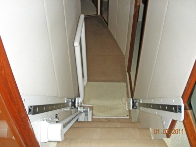 Companionway to Salon Elevator