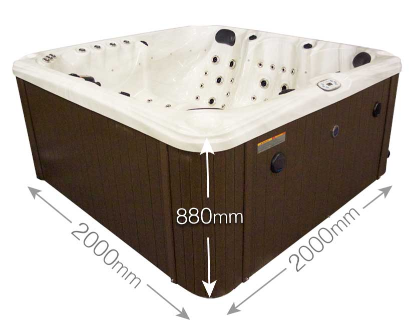 Princeton 6 Person Hot Tub With Finance and Warranty | Blue Whale Spa