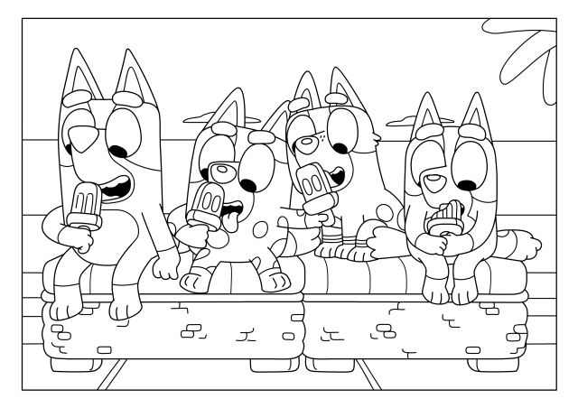 Bluey friends colouring sheets  Bluey Official Website