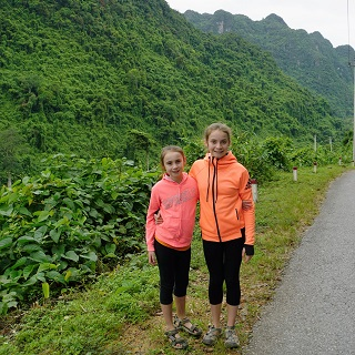 Sophie and Claire on the Ho Chi Minh Trail