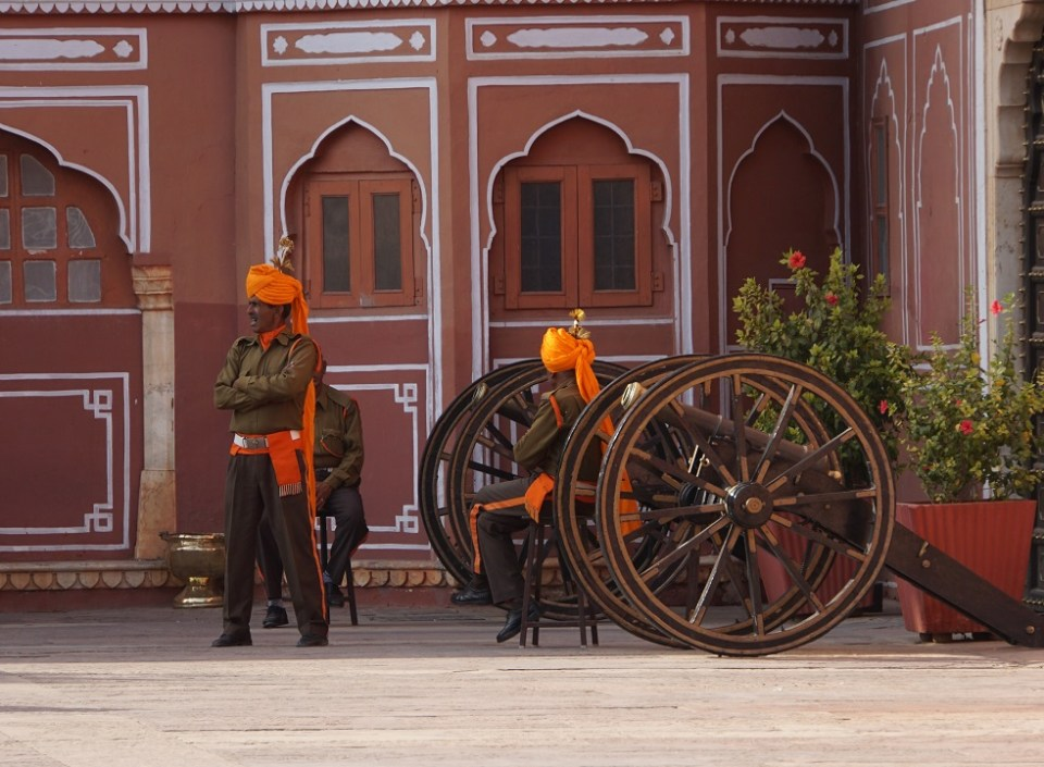 Ceremonial guards at the City Palace