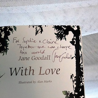 Jane's inscription to the girls