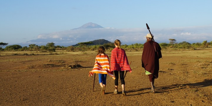On a walking tour with our Maasai guide