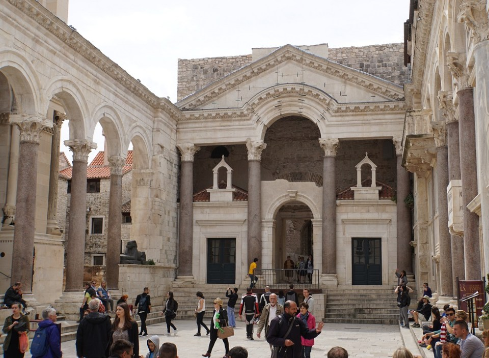 Entrance to Diocletian's living quarters