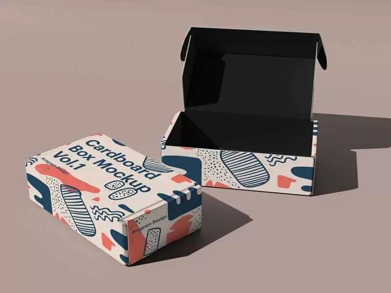 Download Cardboard Box Mockup