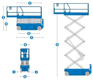 Blulift | Electric Scissor lift elevated platform GS3232