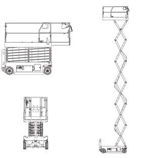 Blulift | Electric Scissorlift elevated work platform GS4047