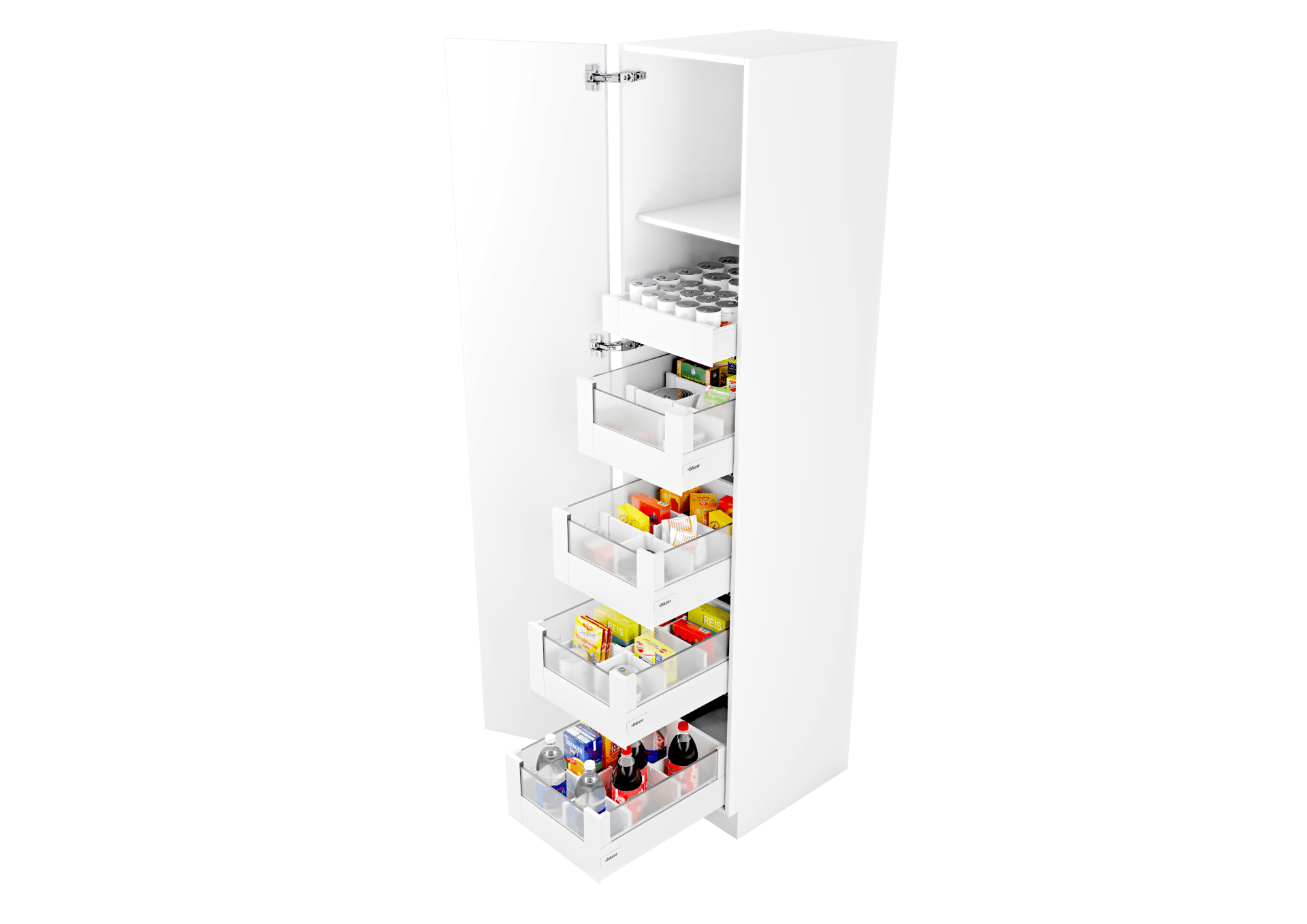 armoire a provisions space tower blum