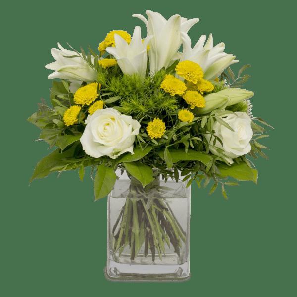 Straußbild Freudentanz Blumen Heller