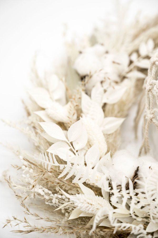 trockenblumen tischkranz