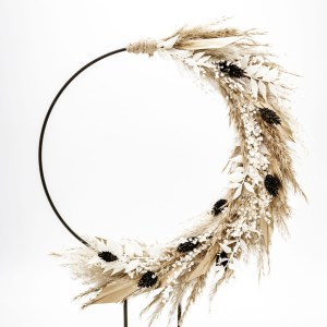 flower hoop gold