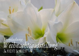 Flyer Weihnachtsausstellung Bolligen 2017 - Blumen Bergmann - Vorderseite
