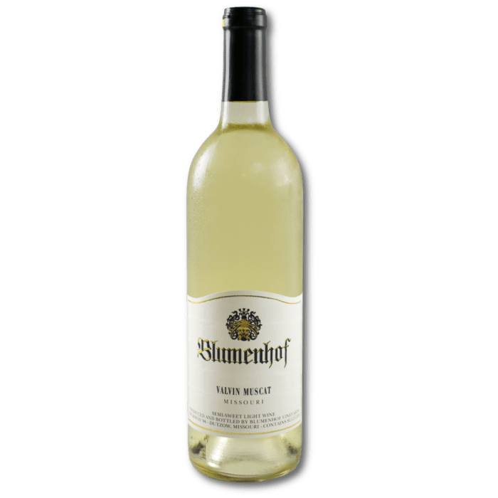 Valvin Muscat - Semi-Sweet White Wine at Blumenhof Winery