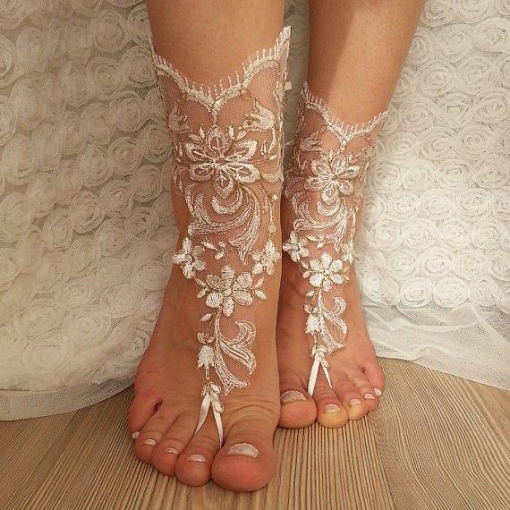 Beach Wedding Wedges Bride