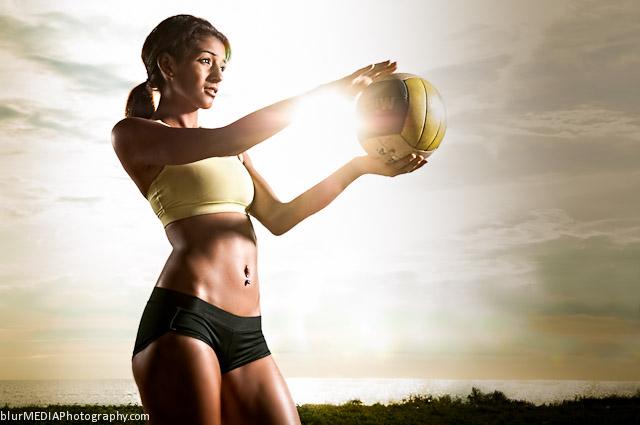 Beach Volleyball Serve - Under Armour and Lululemon Beach Volleyball Uniform Combination