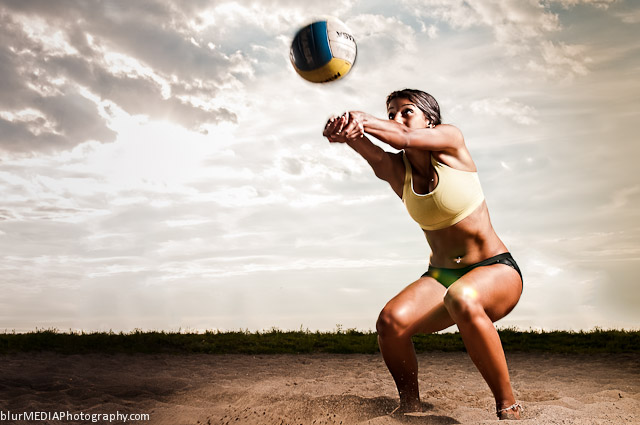 Beach Volleyball Bump - Under Armour and Lululemon Beach Volleyball Uniform Combination