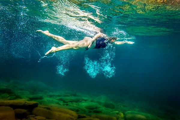 Woman Swimming Freestyle Training In Lake Toronto Underwater Commercial Photographer