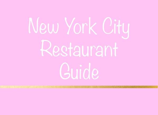 NYC Restaurant Guide V. 3