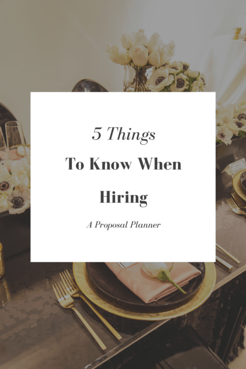 Things to know when hiring a Proposal Planner