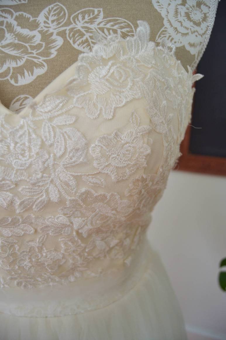 A line Teneille wedding dress