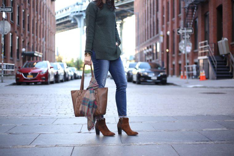 brown suede booties blcok heel