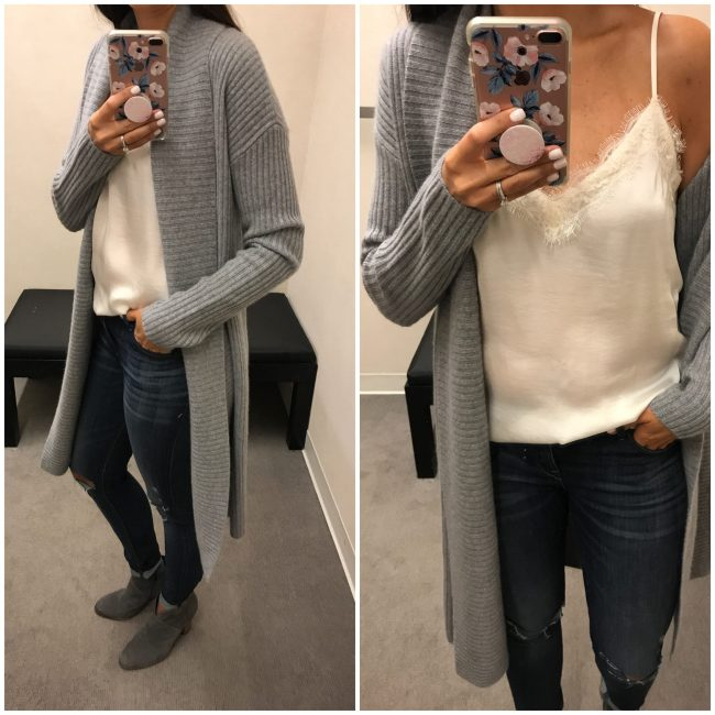 Anna Monteiro blogger of Blushing Rose Style blog wearing Halogen cashmere cardigan from Nordstrom Anniversary sale 2017