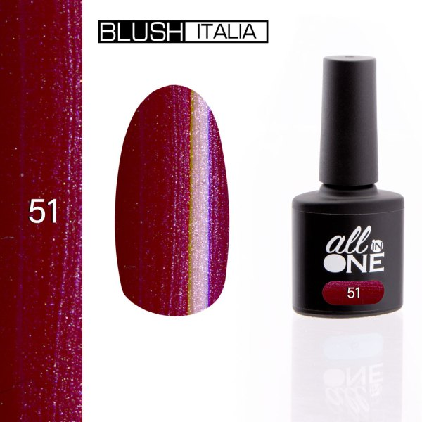 smalto semitrasparente all in one51 blush italia