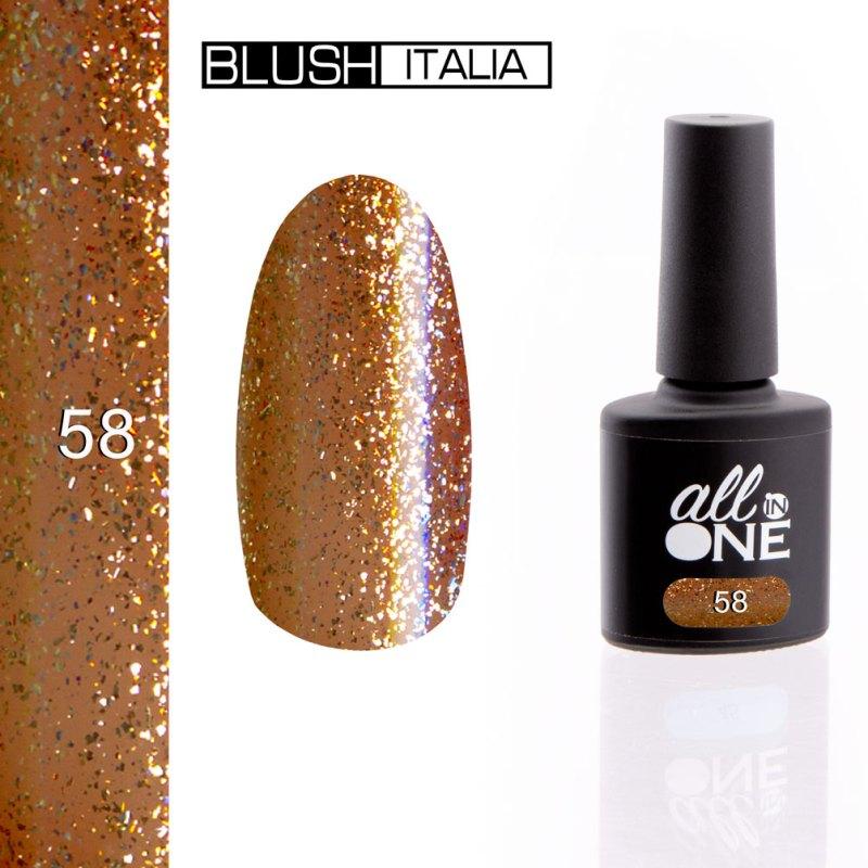 smalto semitrasparente all in one58 blush italia