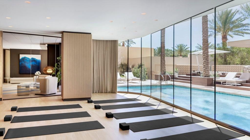 Yoga room at Red Rock Spa Las Vegas