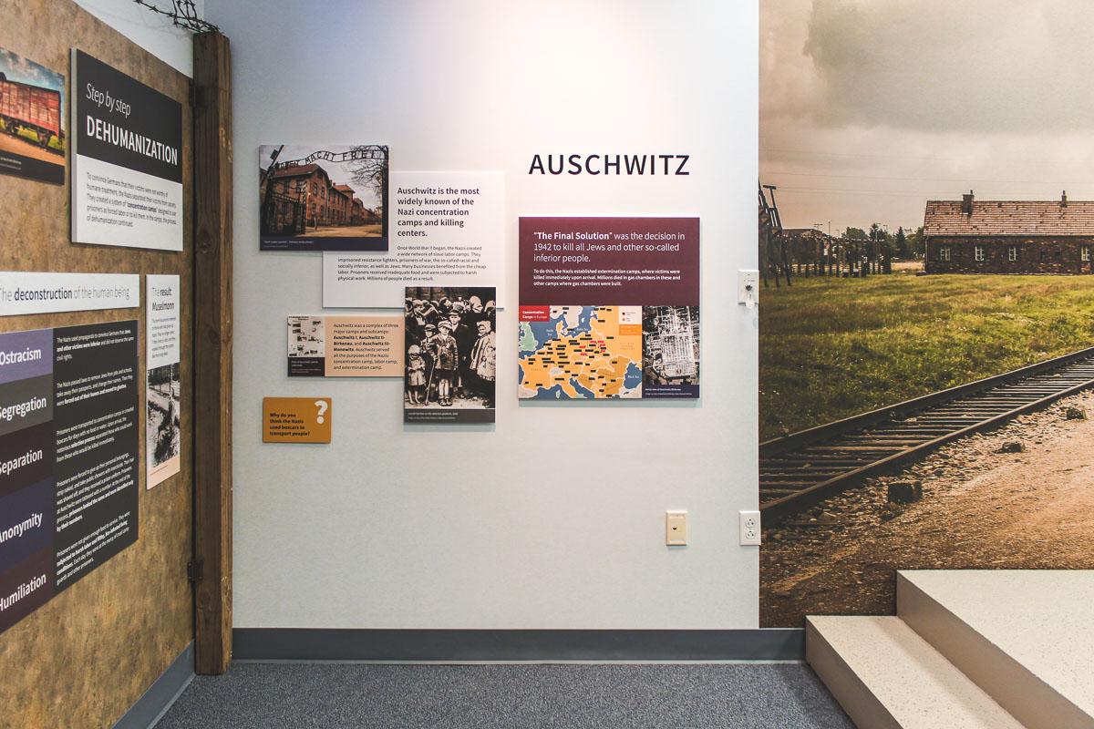 Museum exhibit design for the CANDLES Holocaust Museum & Education Center