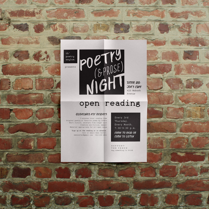 Eye-catching flyer is easily and inexpensively reproduced.