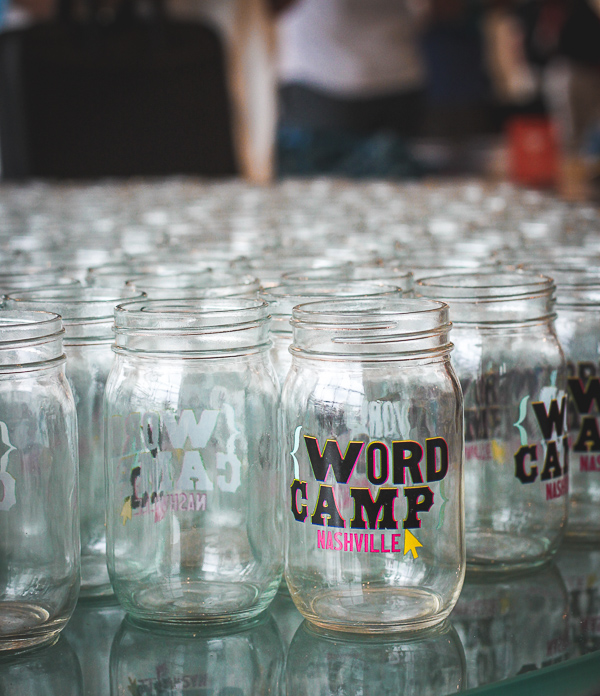Branded mason jars added to the swag.