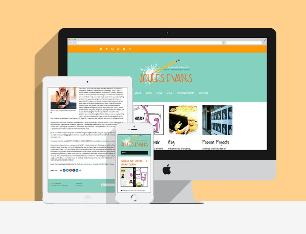 The final website is perfect for Joules' needs — she can update it herself, and it looks great on all devices.