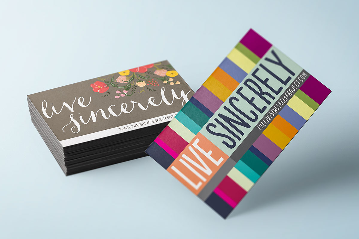 """Colorful magnets saying """"Live Sincerely"""""""