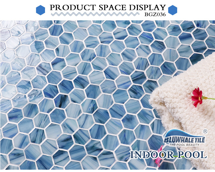 Hex BGZ036 Hexagon Mosaic Hexagon Wall Tile Swimming