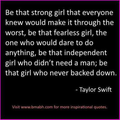 Taylor Swift Strong Women Quotes