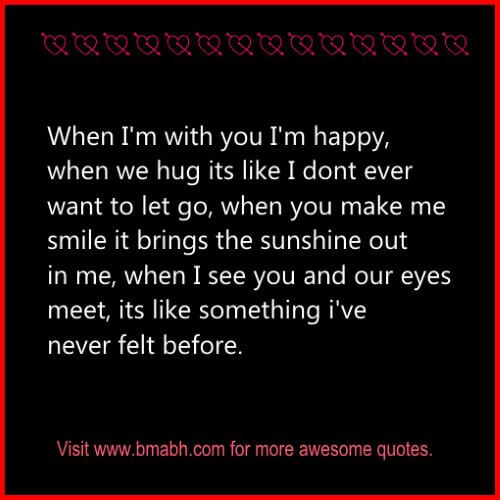 cute love quotes for your special one on www.bmabh.com when you make me smile it brings the sunshine out in me