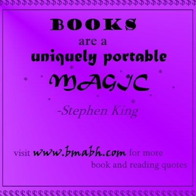 book quotes picture-Books are a uniquely portable magic
