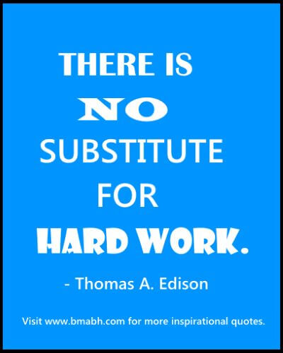 inspirational hard work quotes picture-There is no substitute for hard work