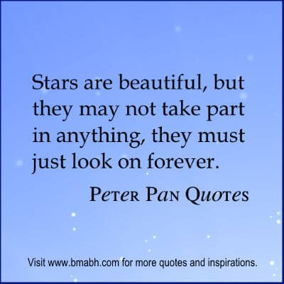Peter Pan Quotes at www.bmabh.com #stars