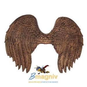 כנפיים מלאך זהב שחור PU