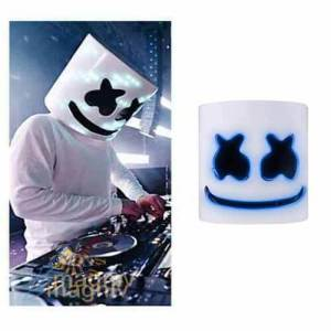 מסכת לד DJ Marshmello מסכה חצי פנים מסכת השנה די ג'י מרשמלו