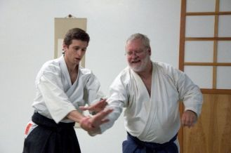 Advanced aikido black belts training